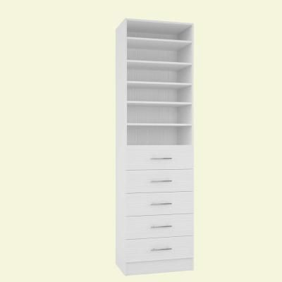 Simplyneu 14 In D X 25 375 In W X 84 In H White Double Hanging Tower Wood Closet System Kit Snt1 Wh The Home Depot Closet System Wood Closet Systems Closet Components