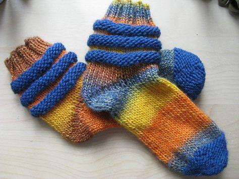 Scrunchy Slouchy Slipper Socks Knit Pattern By Lion Brand Yarn