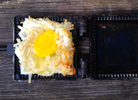 Eggs in a Nest, Pie Iron Recipe | Get Out Camping