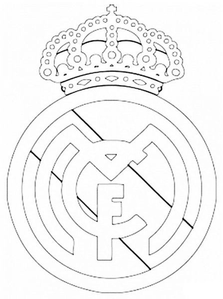 Imagenes De El Escudo Del Real Madrid Para Colorear Escudo Del Real Madrid Paginas Para Colorear Real Madrid