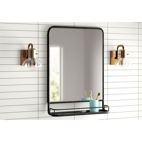 Ashtyn Accent Mirror with Shelves