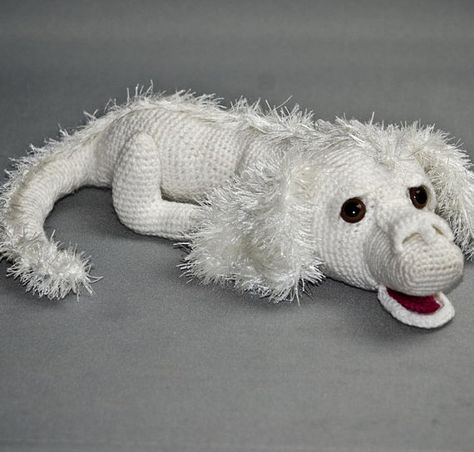 Here is my inspired version of Falkor the Luck Dragon from the film Neverending Story. Loved this film when I watched it back in 1984 and have now created my very own optimistic, wise and gentle luck dragon from Fantasia. This listing is for the pattern only and is written in UK
