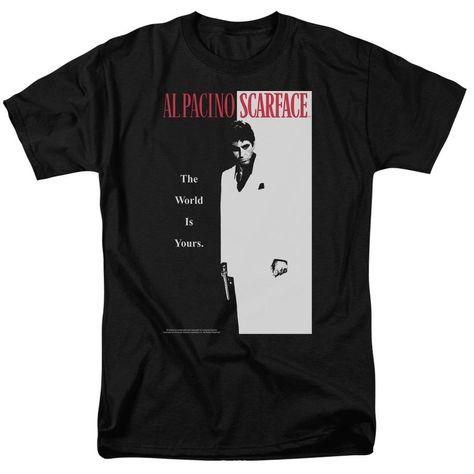 Scarface Movie Classic T-Shirt - 100% Cotton / 5XL / Black