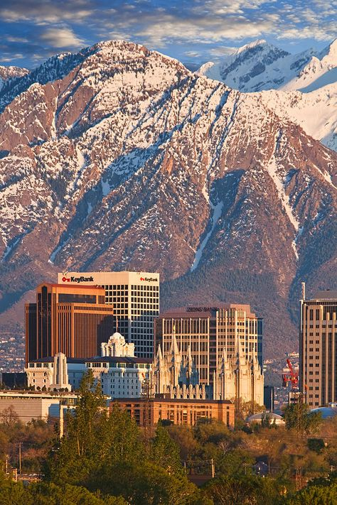Salt Lake City Skyline - Utah (one of our least favorite cities.