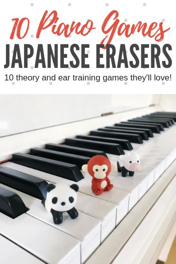 10 piano games you can play with IWAKO Japanese Erasers