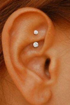 Stainless Steel Piercing circular barbell crystal jewel 14ga 10mm length