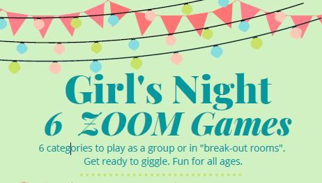 Girl S Night Games On Zoom Team Building Zoom Ladies Etsy In 2021 Team Building Activities For Adults Activities For Teens Sorority Bonding Activities