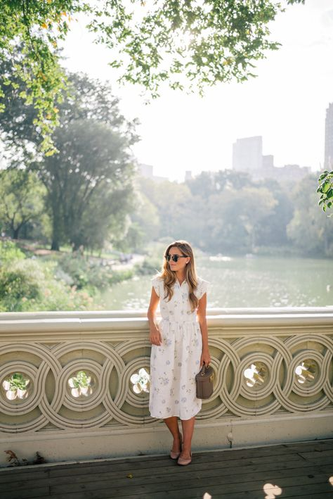 Outfit Details: Christy Dawn Dress, Mark Cross Bag, Chloe Flats, Ray Ban Sunglasses  No trip to Manhattan is complete without visiting Central Park at least once. Something we've always wanted to do was ...