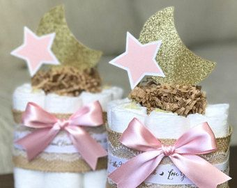 Princess Diaper Cake Set Baby Shower Decor Centerpiece Present
