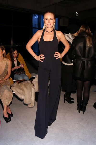 Actress Malin Akerman poses at the Cushnie Et Ochs front row during New York Fashion Week: The Shows.
