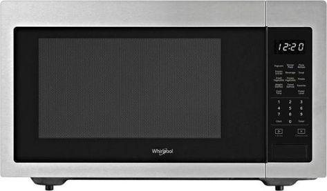 Whirlpool 1 6 Cu Ft Full Size Microwave Silver Wmc30516hz Best