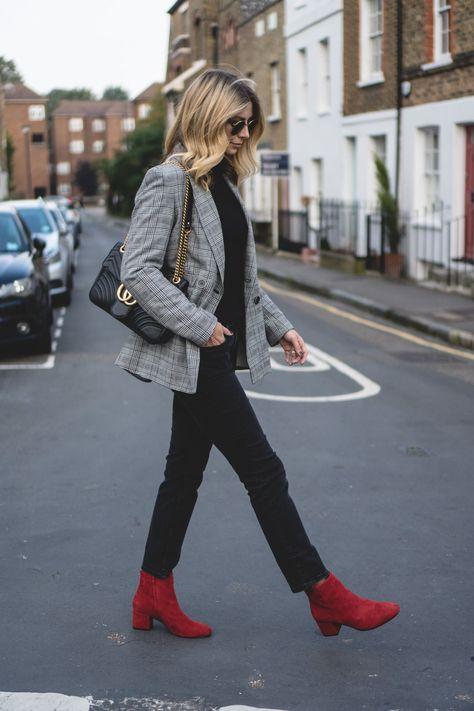 8f0f5f61a5cc Emma Hill wears Check blazer