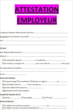 Attestation Employeur Exemples De Modeles En Word Doc Word Doc Modele De Planning Lecture De Plan