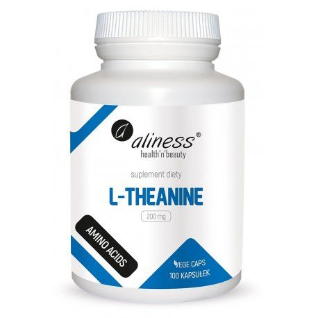 L Theanine L Teanina Aminokwasy 200 Mg 100 Kaps Aliness Theanine The 100 Amino Acids