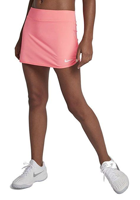 Amazon Com Nike Women S Pure Skirt Black White Skirt Md Clothing Tennis Skirt Womens Tennis Skirts Workout Shorts Women
