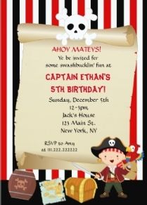 49 best pirate birthday invitations