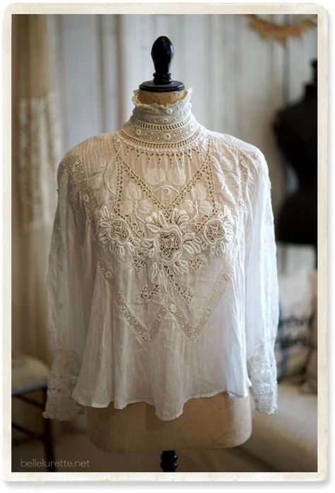 """♡ """"An antique Victorian blouse-late century."""