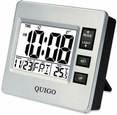 Quigo Small Digital Travel Alarm Clock With Datetemperature