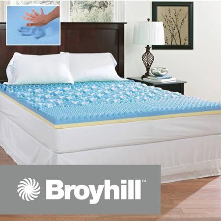 Broyhill Comfort Temp 3 Gel Memory Foam Mattress Topper Walmart