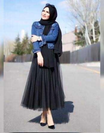 Elfida Tesettur Kisa Kot Ceket Kombinleri Moda Tesettur Giyim Moda Stilleri Kot Ceket Mayolar