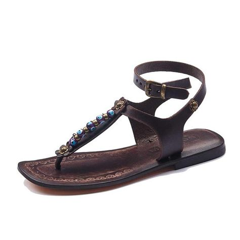 c948401fb Handmade Leather Ankle Wrap Sandals