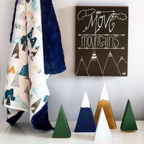 Customizable shelf decor for your mountain, woodland, or tribal theme!