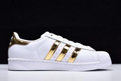 adidas superstar gold metallic