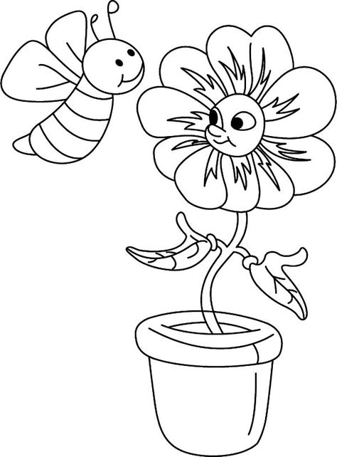 44 Honey Bee Coloring Pages Ideas