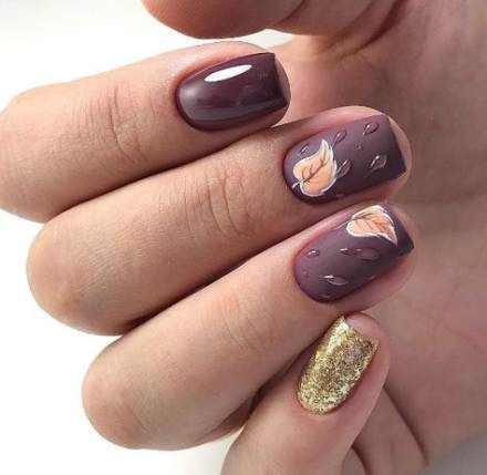 53 Ideas Nails Design Dark Purple Fall Nail Designs Best Nail Art Designs Autumn Nails