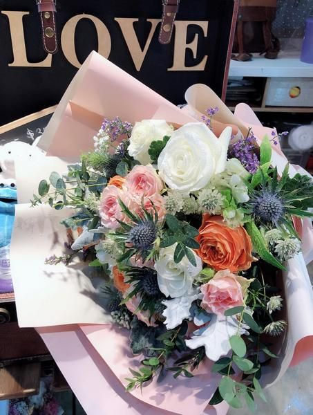 Alyssa Pastel Rose Blooms Luxury Bouquet Flowers Bouquet Best Flower Delivery