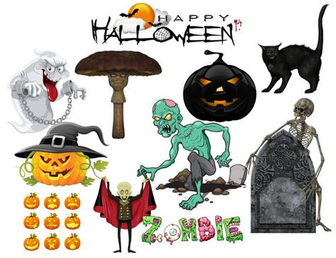 HAPPY HALLOWEEN, Zombie Apocalypse Page (12 x 12 Halloween Paper) Spooky Digital Collage, 13 Eerie Backgrounds, 13 Creepy Pages by EerieBeth on Etsy