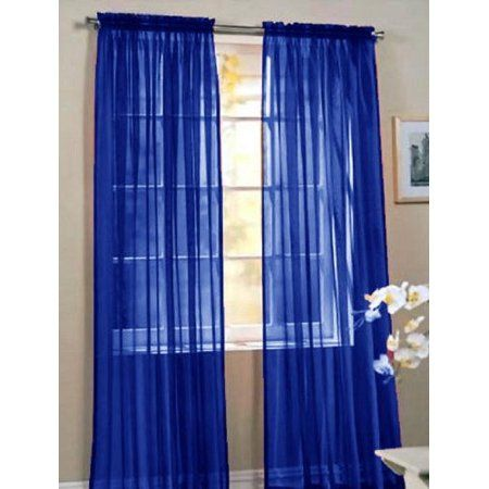 sheer voile window curtain panels 84