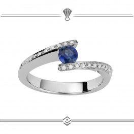Fashion saphir bleu femmes mariage fiançailles Band Bague Bijoux Taille 6-10