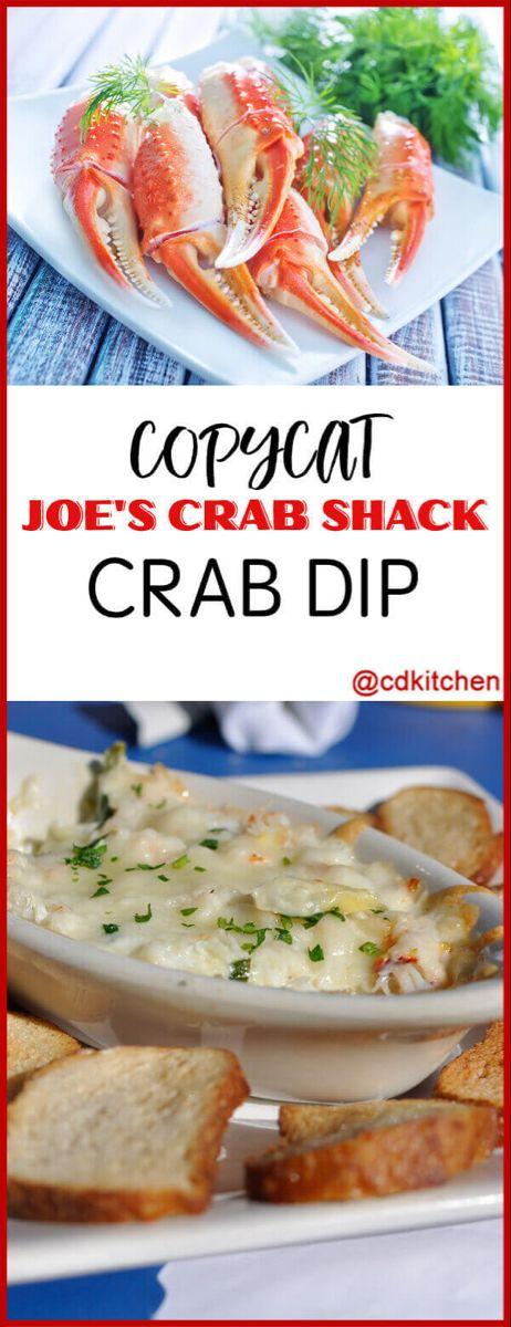 Copycat Joe's Crab Shack Crab Dip - This copycat dip from Joe's Crab Shack is. Shrimp And Crab Dip, Seafood Dip, Hot Crab Dip, Cajun Crab Dip, Crab Appetizer, Seafood Appetizers, Yummy Appetizers, Appetizer Recipes, Joes Crab Shack Recipe