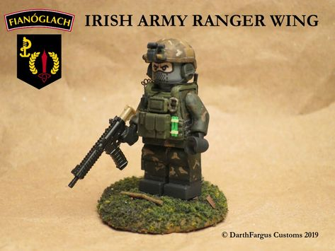 WW2 US Army 82nd Airborne Ranger Soldier Minifigure made with real LEGO parts R