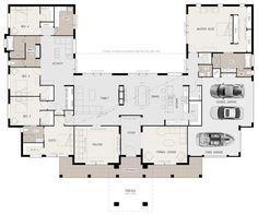 U Shaped Lakefront House Plans Google Search Courtyard House Plans Dream House Plans U Shaped House Plans
