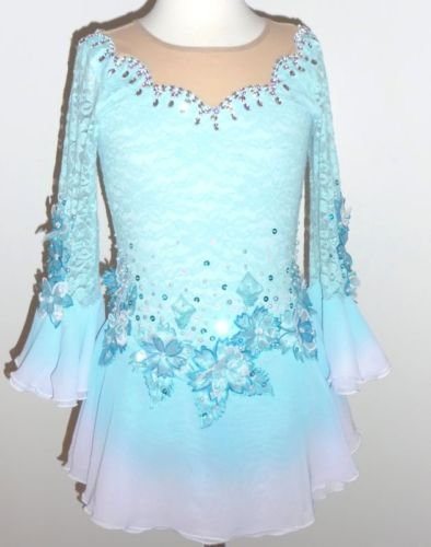 Custom Made to Fit Beautiful Figure Ice Skating Dress | eBay