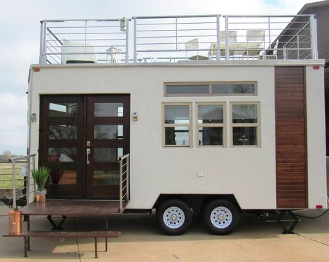 Experience the Ultimate Glamping in a Hybrid Tiny House Trailer with Rooftop Patio | iDesignArch | Interior Design, Architecture & Interior Decorating eMagazine