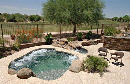 Phoenix Pool Arizona Spas And Spools California Pools And Spas 1000 In 2020 Pool Landscaping Small Pools Small Backyard Pools