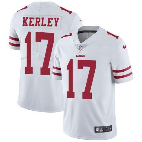 f92fe92f8f1 Men s Nike San Francisco 49ers  17 Jeremy Kerley Limited White NFL Jersey