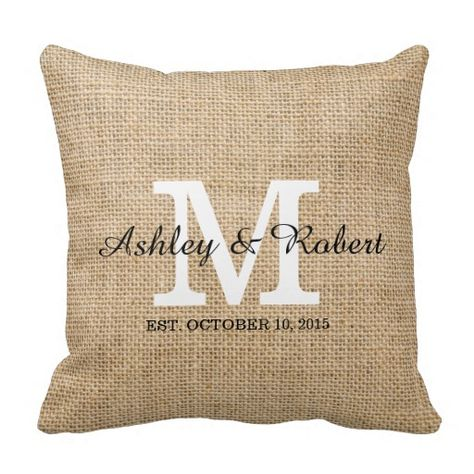 """Threshold Monogram Throw Pillow Cover   18/"""" x 18/""""   Coral  /""""A/"""""""