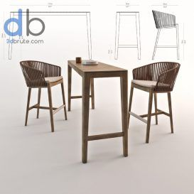 Mood Bar Chair Table 881 Download 3d Models Free 3dbrute