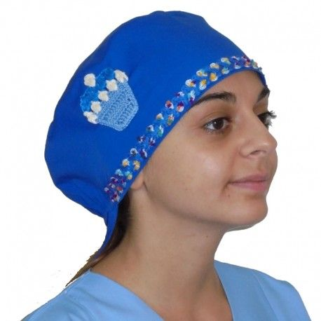 Unique, handmade surgical cap suitable for all medical purposes. This  beautiful cap is decorated