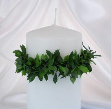 Tropfschutz Fur Kerzen Aus Rosenblattern Taufkerze Kerzen Und