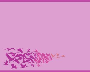 This Birds PowerPoint is a PPT template with violet colors and birds on top