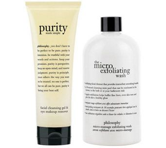 Philosophy Purity Cleansing Gel And Microdelivery Wash Duo A331057 Cleansing Gel Exfoliating Facial Cleanser Philosophy Skin Care