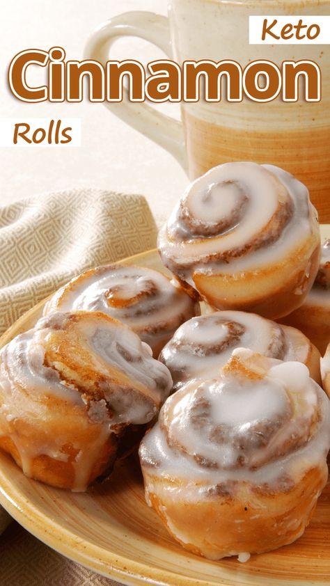 Dr Oz: Cinnabon Cinnamon Rolls Recipe Made Low-Fat & Low-Calorie - Well Buzz Cinnabon Recipe, Cinnabon Cinnamon Rolls, Healthy Cinnamon Rolls, Low Carb Desserts, Low Carb Recipes, Cooking Recipes, Healthy Recipes, Cooking Time, Cena Keto
