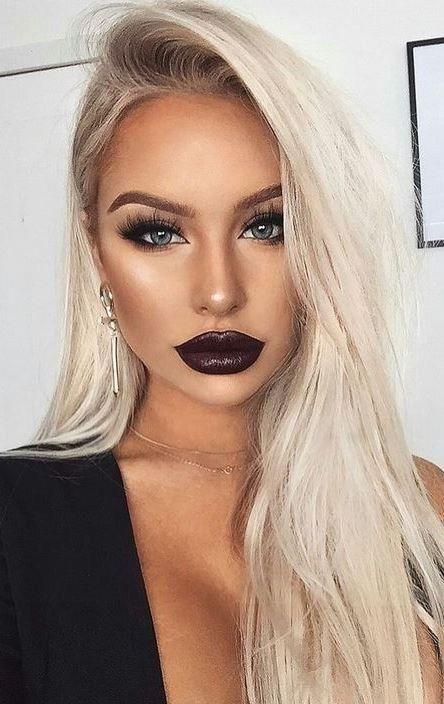 Lippenstift blonde haare blaue augen | VIDEO: Schminktipps