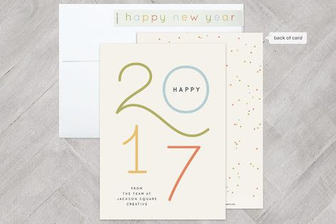 Colorful new year wishes business holiday cards pinteres reheart Choice Image