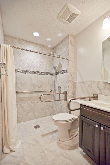 Ada Barrier Free Shower For Handicapped People Handicap Bathroom